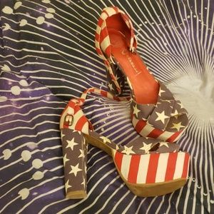 JEFFEEY CAMBELL flag shoes USA